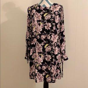 H&M long sleeve floral print dress